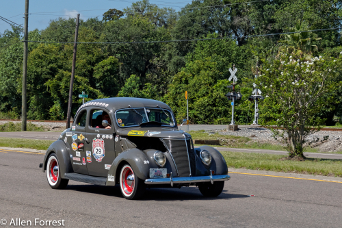 2017 Hemmings Motor News Great Race participants as they leave Jacksonville, Florida