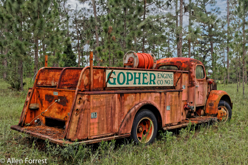 Gopher Fire Truck Just outside of Kerr City, a ghost town located outside Fort McCoy in Marion County, Florida