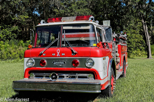 1970's Ford Firetruck at Island Grove Wine Company Tasting House, on US 301 north of Citra, Florida