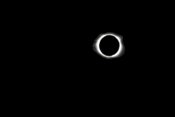 Total eclipse as seen from Belton, South Carolina. The solar eclipse of August 21, 2017 was a total eclipse visible within a band across the entire contiguous United States. Not since the February 1979 eclipse had a total eclipse been visible from anywhere in the mainland United States.