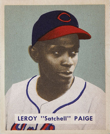 "Leroy ""Satchell"" Paige 1949 Cleveland Indians baseball card"